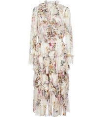 zimmermann brighton floral print tiered silk dress