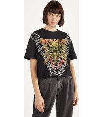 cropped t-shirt megadeth
