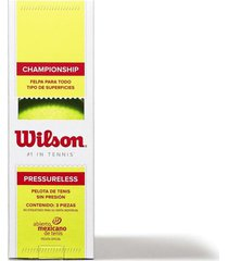 tubo de pelotas bolas de tenis wilson tour clay pressureless