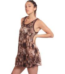 vestido marrón clon vest1e