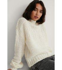 na-kd chunky tröja - white