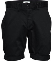 tjm essential chino short shorts chinos shorts svart tommy jeans