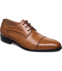 laced derby shoe with toecap shoes business laced shoes brun tga by ahler
