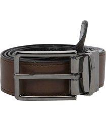 cinturón doble faz café- negro vélez