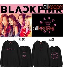 kpop blackpink cap hoodie square one concert lisa hoody pullover sweatershirt
