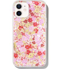 sonix vintage meadow iphone 12/12 pro, 12 pro max & 12 mini case - pink