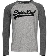 t-shirt lange mouw superdry vl ac raglan ls top