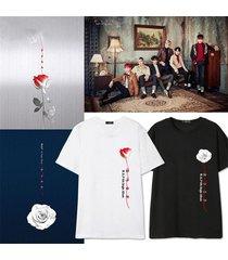 kpop bap t-shirt b.a.p rose tshirt jong up unisex cotton short sleeve tee