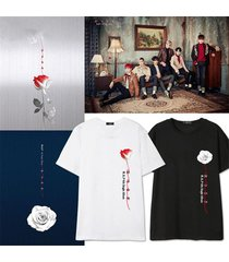 kpop bap t-shirt b.a.p rose tshirt jong up unisex cotton short sleeve tee
