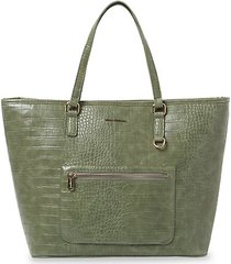 weekend croc-embossed vegan leather tote