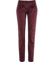 pantaloni chino elasticizzati (rosso) - bpc bonprix collection