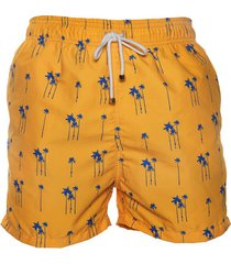 pantaloneta de baño naranja regata beachwear valle del cocora