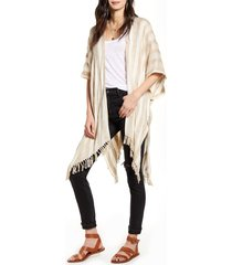 women's treasure & bond stripe open front cardigan