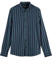 scotch & soda regular fit pattern shirt with co combo b