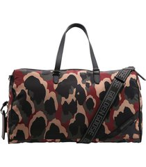 golden goose camouflage-print holdall