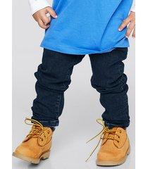 slim jeans med stretch - mörkblå