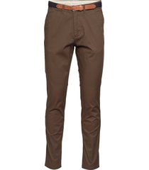 slhslim-yard pants w noos chinos byxor brun selected homme