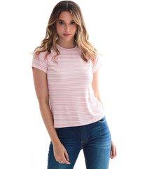 camiseta para mujer en poliester color-rosa-mag-talla-xs
