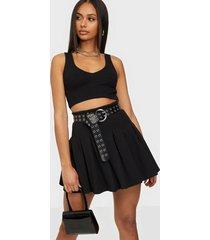 nly one pleated skirt minikjolar