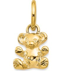 teddy bear charm pendant in 14k yellow gold