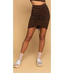 akira top of the world drawstring mini skirt