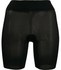 wolford sheer seamless shorts - black