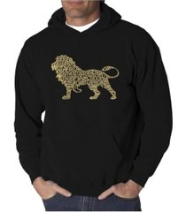 la pop art men's word art hoodie - lion