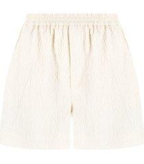 nanushka textured shorts - neutrals