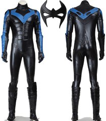 batman costume arkham city nightwing cosplay costume adult men superhero outfit