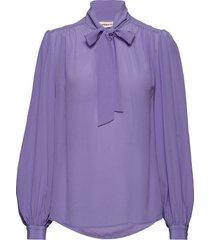 parisa blouse lange mouwen paars custommade