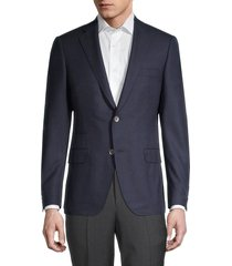 saks fifth avenue men's samuelsohn regular-fit wool travel blazer - navy - size 40 s