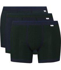 schiesser lorenz 3-set boxer shorts - green
