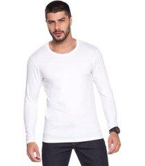 camiseta avulsa manga longa básica pijama homewear em viscolycra - l506 - masculino