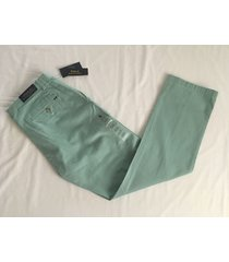 nwt polo ralph lauren men's classic fit chino pants flat front - essex green $85