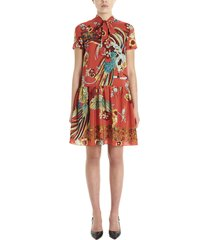 red valentino bird of parad in forest dress