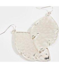 alana satin effect drop earrings - silver