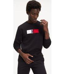 tommy hilfiger men's lewis hamilton relaxed fit sweatshirt jet black - xxl