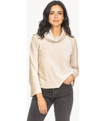 lilla p rolled sleeve velour pullover