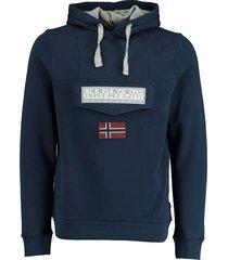 napapijri hoodie sweater donkerblauw np0a4eav/bb6