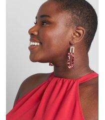 lane bryant women's rectangle resin statement earrings onesz zinfandel