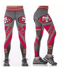 49ers leggings - #18 women fan gear - higher quality - nfl san francisco gift