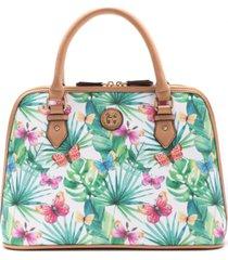 giani bernini butterfly-print medium dome satchel, created for macy's