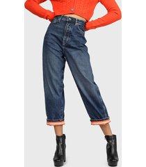 jeans dua lipa x pepe jeans edie dlx negro - calce holgado