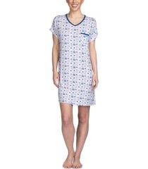 muk luks printed sleepshirt nightgown