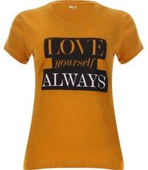 camiseta love always color amarillo, talla l