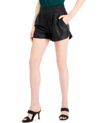 inc international concepts faux-leather shorts, created for macy's