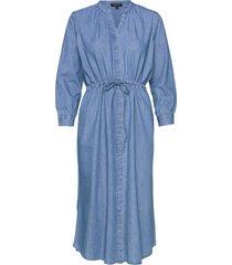 slfally-damina 7/8 midi dress ex jurk knielengte blauw selected femme
