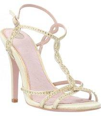 sandalia fifi plateado we love shoes