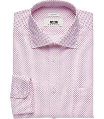 joseph abboud burgundy circle dot dress shirt