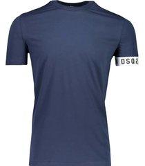 dsquared2 t-shirt navy white